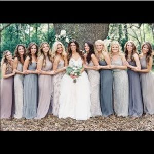Hayley Paige Light Blue Bridesmaid Gown